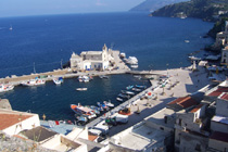 the tiny port of Marina Corta - Lipari