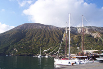 in the port of Vulcano